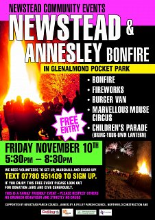 Newstead and Annesley Bonfire