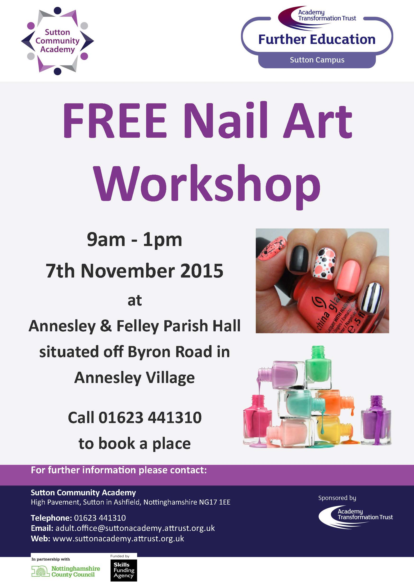 Free Nail Art Workshop Annesley Felley Community
